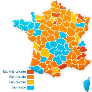 Cartographie des eaux calcaires en France