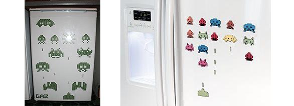 Invaders sur réfrigérateur
